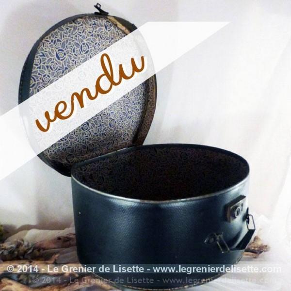 ancienne boitede transport en carton pour chapeaux. Black Bedroom Furniture Sets. Home Design Ideas