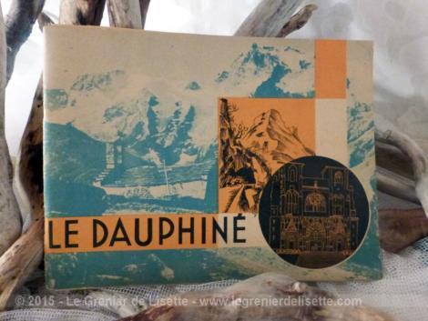 livret de cartes postales ou vues du Dauphiné des années 30