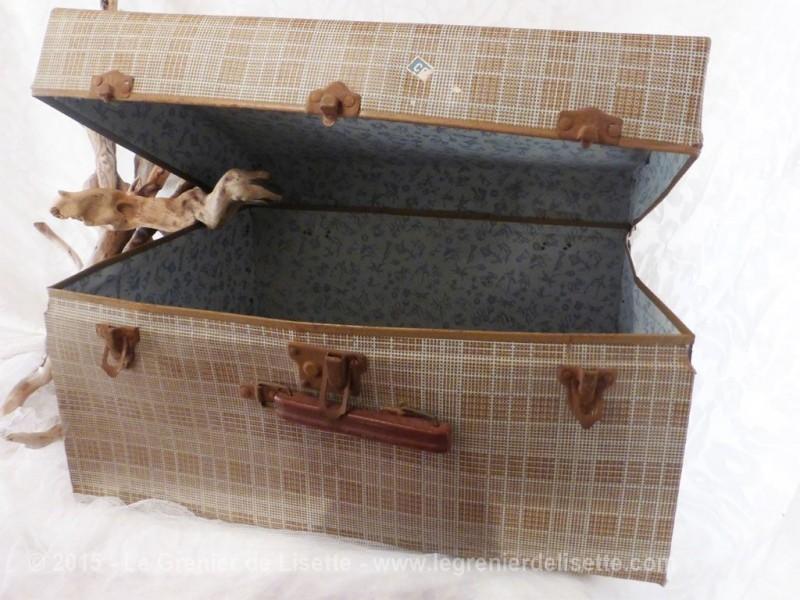 Ancienne grande valise en carton le grenier de lisette - Valise en carton ancienne ...