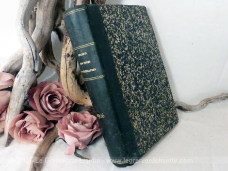 Livre sur les bulletins des postes de 1926