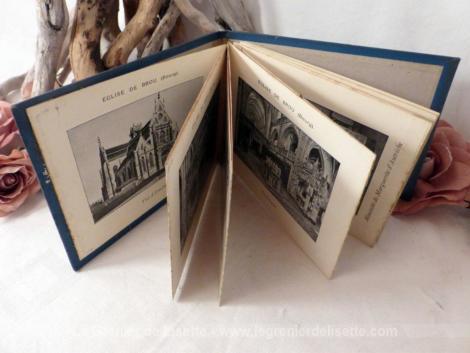 photos anciennes en livret de l'Eglise de Brou