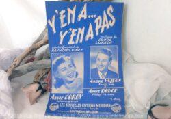 Ancienne partition de musique Yanapas