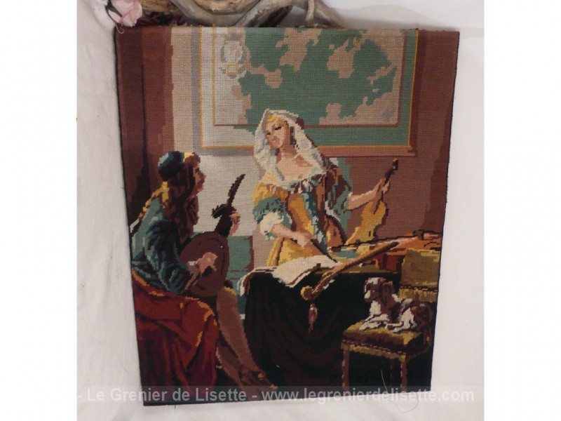 Ancienne tapisserie fait main le grenier de lisette - Tapisserie murale ancienne ...