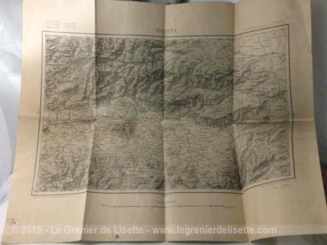 Ancienne carte département Algérie