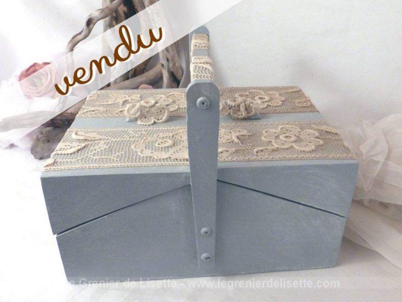 Boite couture et dentelle le grenier de lisette for Boite a couture retro