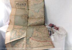 Ancienne carte de France du début du siècle dernier