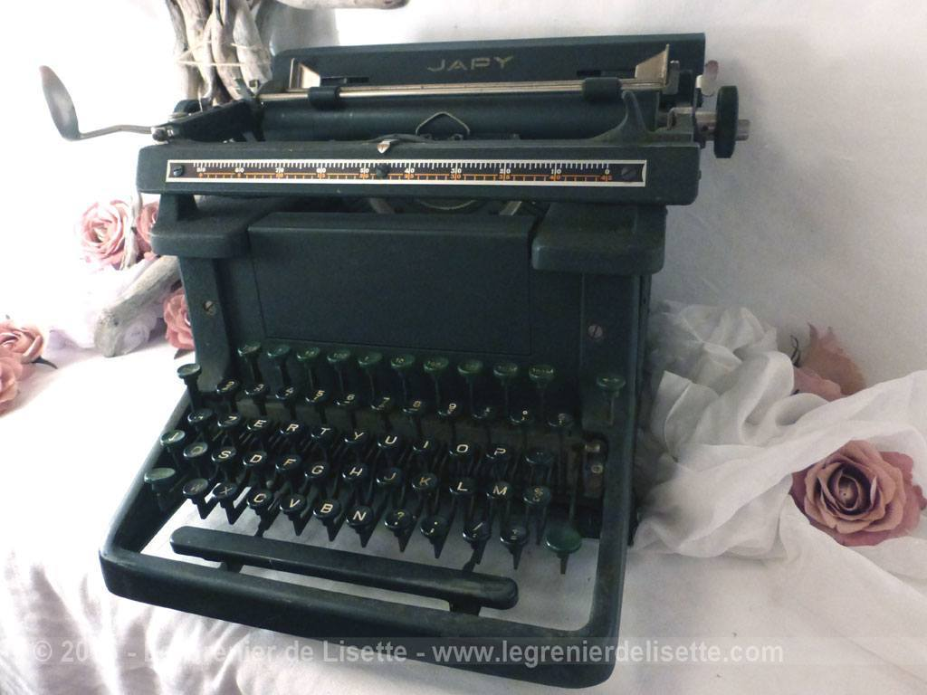 ancienne machine crire japy le grenier de lisette. Black Bedroom Furniture Sets. Home Design Ideas