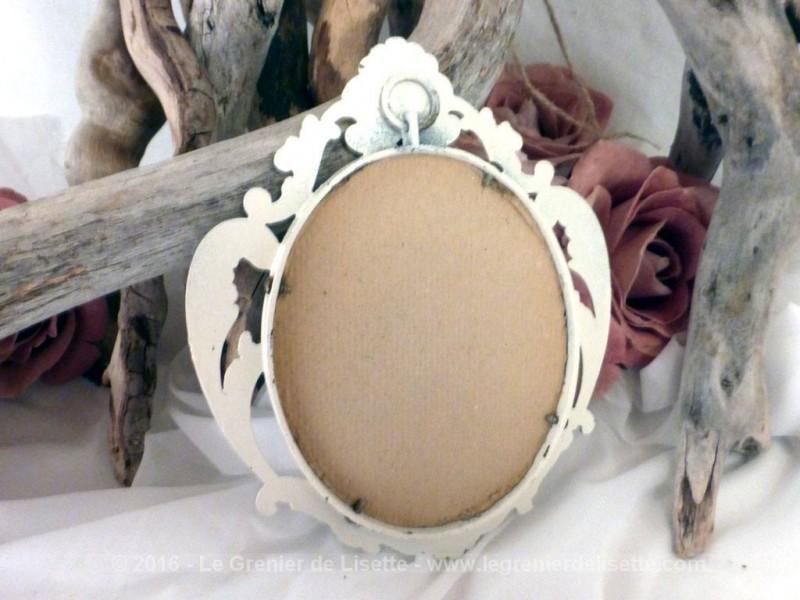 Petit miroir en r gule patin shabby le grenier de lisette for Petit miroir original