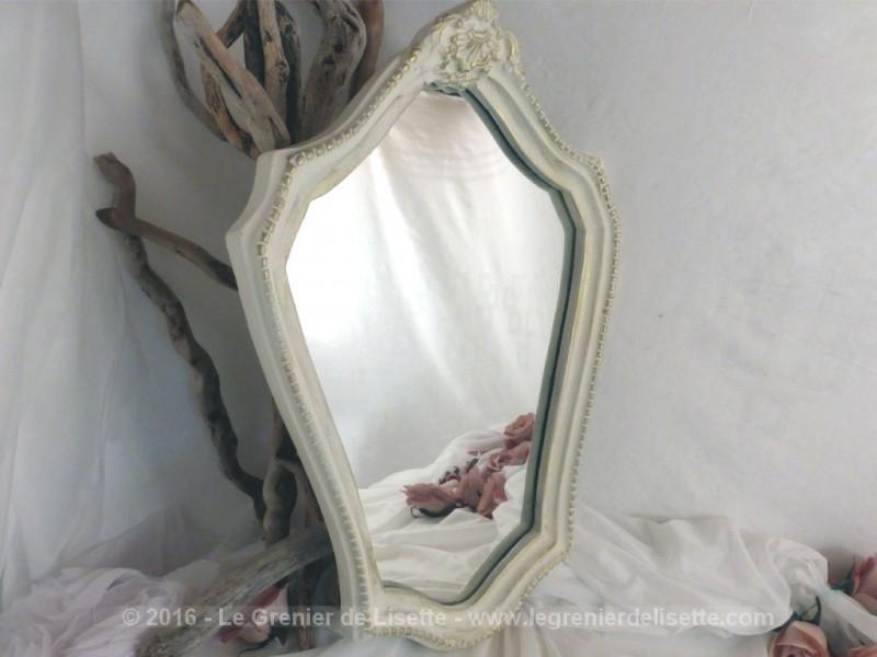 Miroir style louis xv le grenier de lisette for Encadrement shabby chic