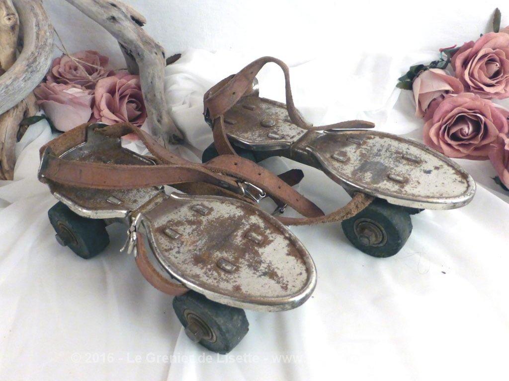 anciens patins roulettes le grenier de lisette. Black Bedroom Furniture Sets. Home Design Ideas