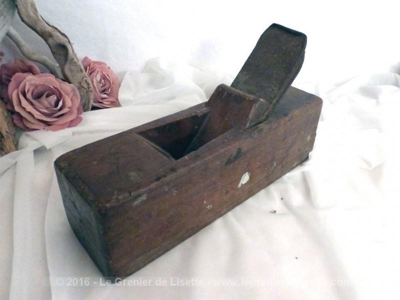 ancien rabot main de menuisier le grenier de lisette. Black Bedroom Furniture Sets. Home Design Ideas