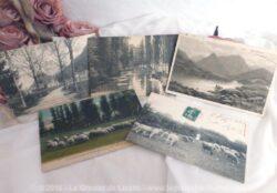 Cinq cartes postales anciennes région Bourbonnaise.