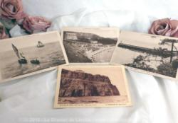 Quatre cartes postales anciennes sur la Bretagne.