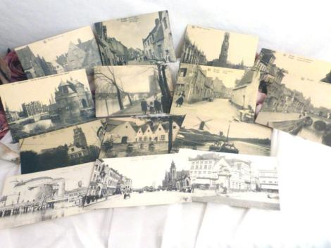 Lot de cartes postales anciennes de la ville de Bruges.