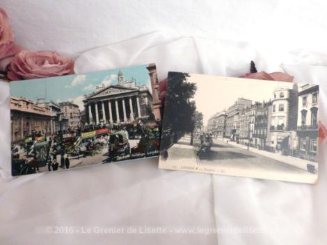 Deux cartes postales anciennes de la ville de Londres.