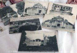 Lot de 6 cartes postales anciennes de la ville de Paray