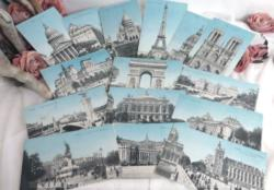 Lot de 15 cartes postales anciennes de la ville de Paris