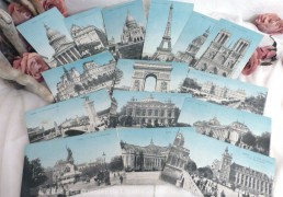 Lot de 15 cartes postales anciennes de la ville de Paris