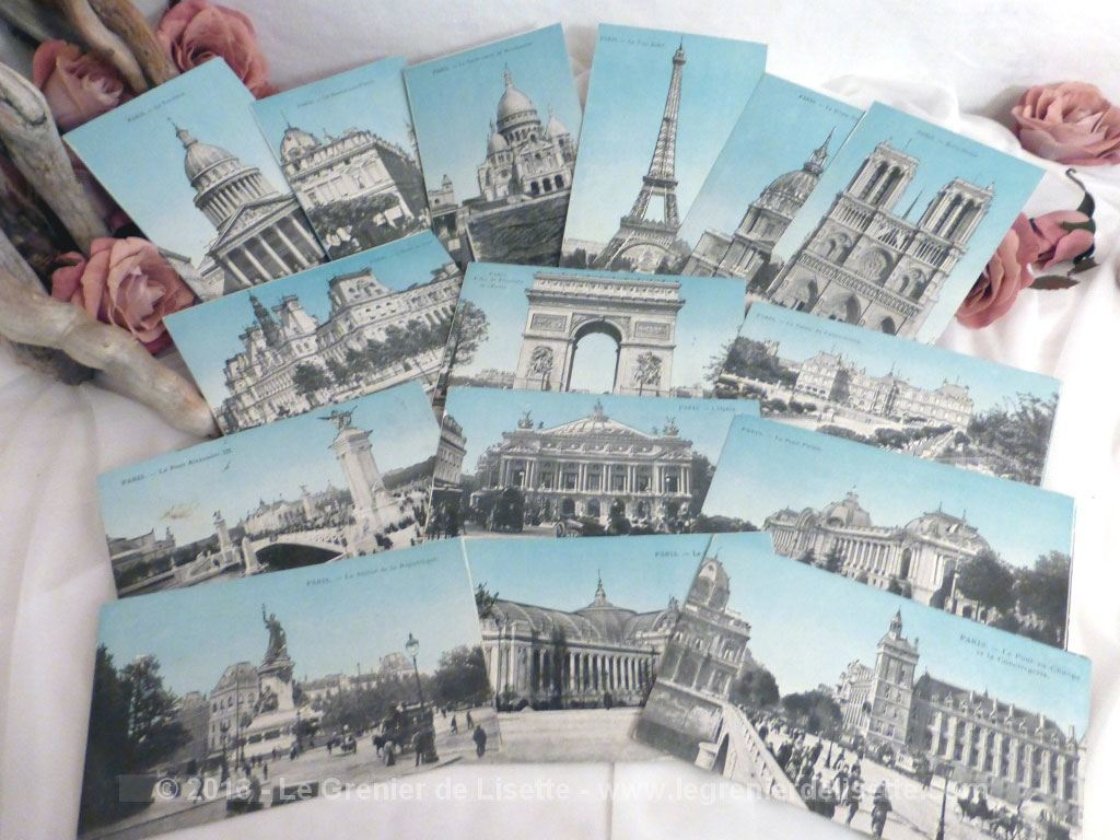 Lot De 15 Cartes Postales De Paris Vers 1900 Le Grenier