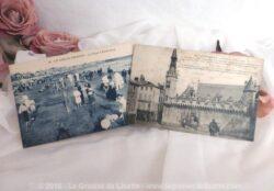 Deux cartes postales anciennes de la ville Les Sables d'Olonne