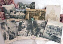 Lot de neuf cartes postales anciennes de la Suisse