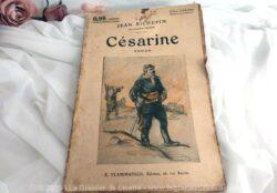 """Ancien livret ou livre de gare, au titre de """"Césarine"""" de Jean Richepin, datant des années 20, aux Editions Flammarion."""