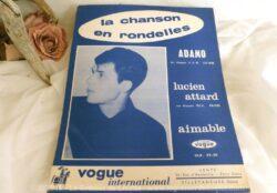 """Ancienne partition """"Adamo"""" la Chanson en Rondelles"""