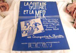 """Partition chanson """"La guitare et la Mer"""" des Compagnons de la Chanson"""