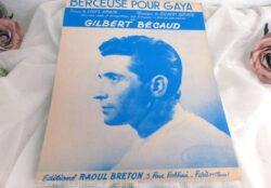 "Partition de chanson ""Pour Gaya"" de Gilbert Becaud"