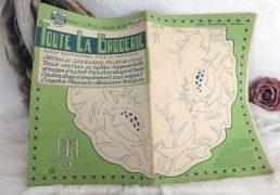 """Revue """"Toute la Broderie"""" n°52 de janvier 1958."""