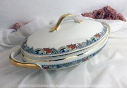 Soupière ovale porcelaine Limoges.