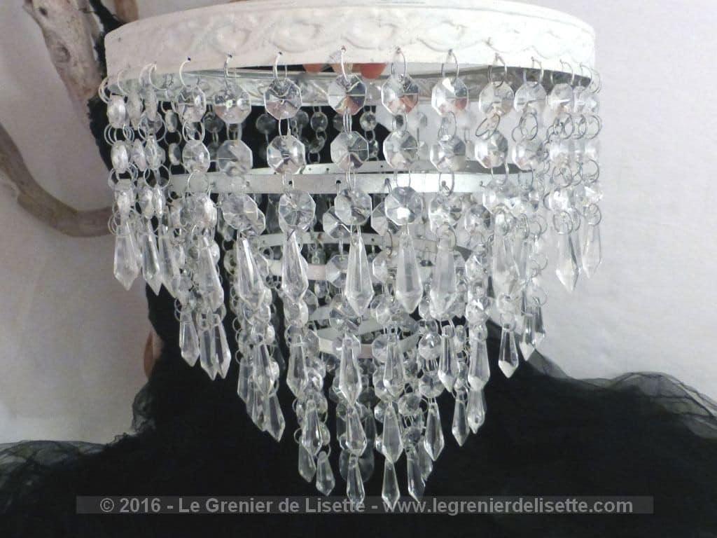 vendu suspension avec pampilles de verre le grenier de lisette. Black Bedroom Furniture Sets. Home Design Ideas