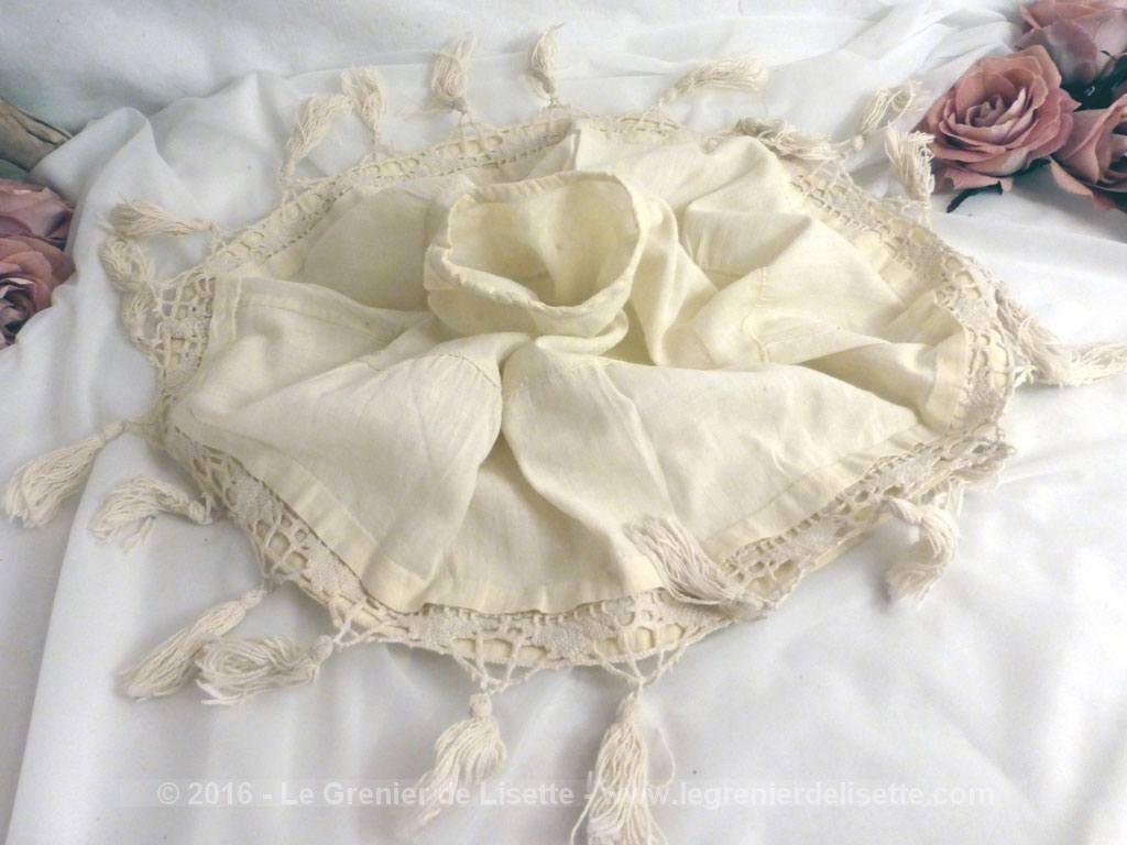 vendu ancien habillage abat jour tissus et dentelle le grenier de lisette. Black Bedroom Furniture Sets. Home Design Ideas