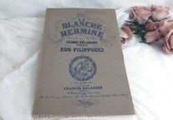 Partition La Blanche Hermine avec autographe du compositeur EDM. FILIPPUCCI.