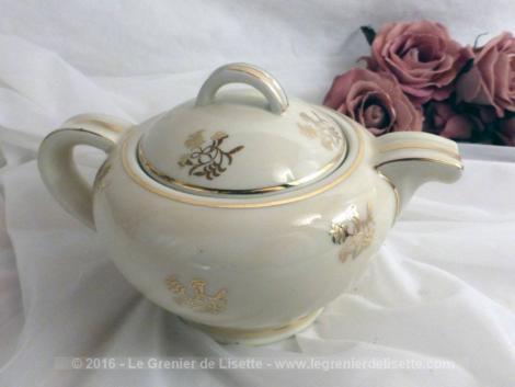 theiere, porcelaine, limoges, vintage, décoration