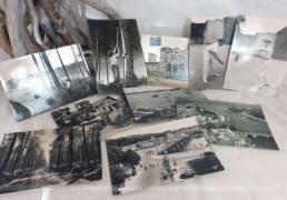 Lot de 10 cartes postales anciennes en photo noir et blanc des traditions du Pays Basque et de la ville de Bayonne.
