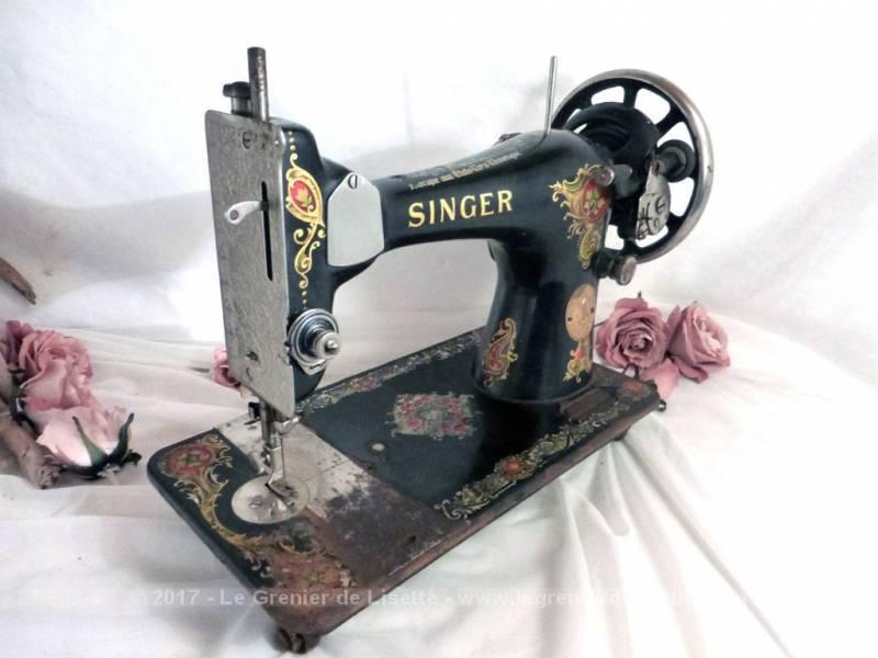tr s ancienne machine coudre singer le grenier de lisette. Black Bedroom Furniture Sets. Home Design Ideas