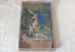 Almanach François de 1934 de la Pharmacie P. Durand à Caudry.