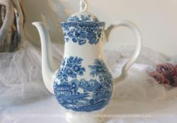 "Grande et superbe cafetière verseuse en porcelaine anglaise ""Madein Staffordshire, England"" , Modèle Tonquin by Myott."