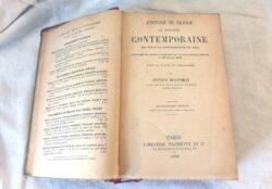 Livre d'Histoire Contemporaine de 1789 à 1875 , édité en 1888.