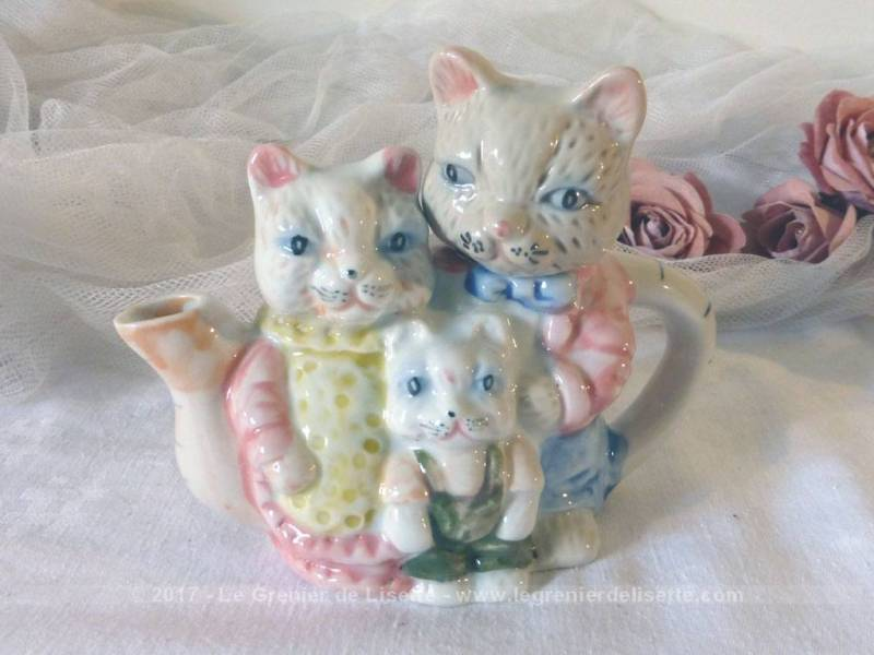 Vendu th i re originale forme famille de chats le grenier de lisette - Photo de famille originale ...