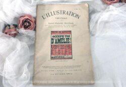 """Ancienne revue """"L'illustration Théâtrale"""" datée de 1911 avec toute la pièce """"Occupe toi d'Amélie"""" de G. Feydeau."""