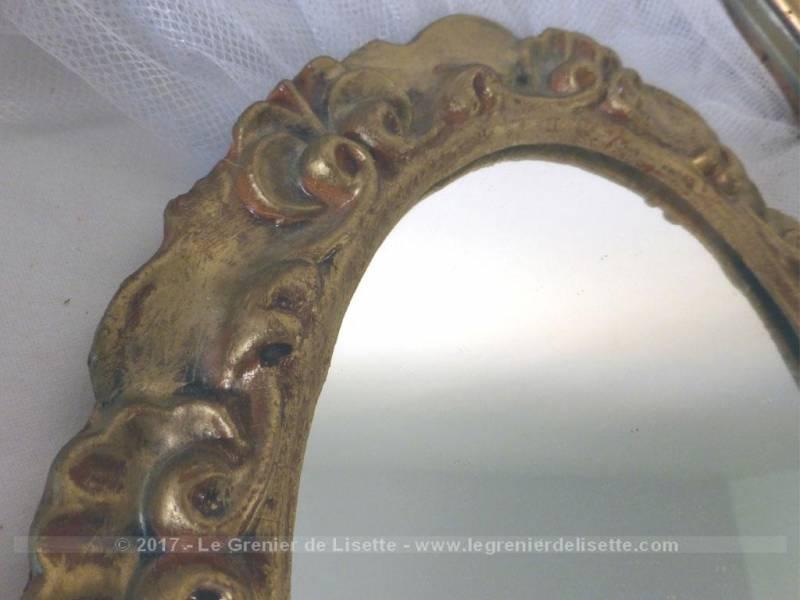 Composition unique cadre et miroir le grenier de lisette - Prix d un miroir ancien ...