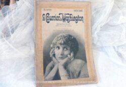 """Revue deroman-cinéma """"Le Courrier de Washington"""" avec le 1er épisode """"Mission Secrète"""" publiéeen 1917."""