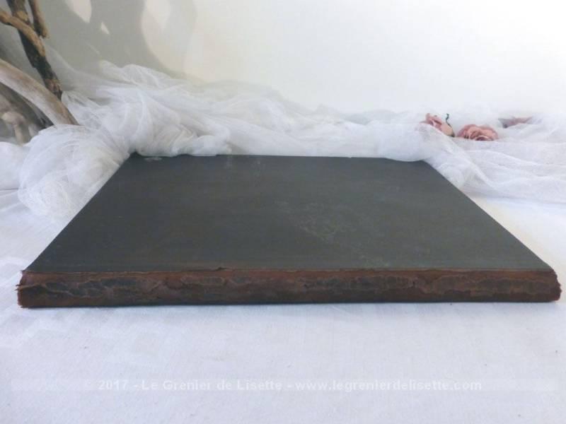 sous main cuir avec dessins grav s et teints le grenier de lisette. Black Bedroom Furniture Sets. Home Design Ideas