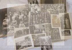 Lot de 13 photos anciennes -libres de droit à l'image avec des photosde famille en petit comité ou en groupe.