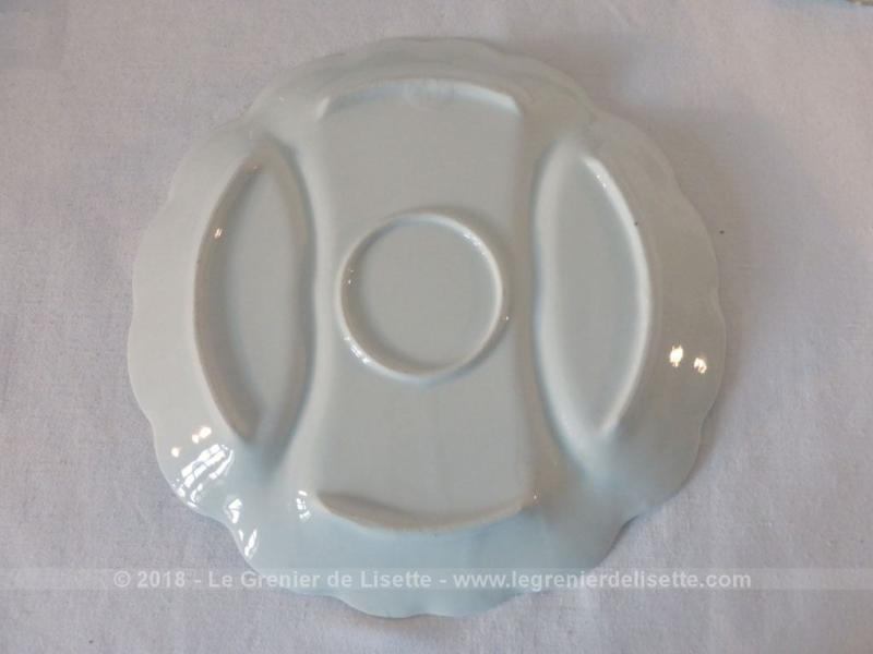 lot de 6 assiettes fa ence blanche avec compartiments le grenier de lisette. Black Bedroom Furniture Sets. Home Design Ideas