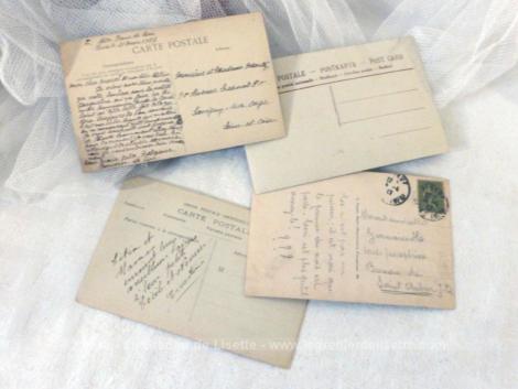 Lot de 4 cartes postales ancienne Joyeuses Pâques