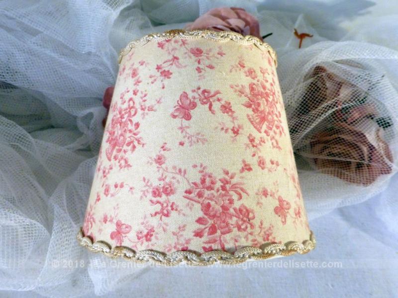 Ancien abat jour tissus shabby pour ampoule le grenier de lisette - Tissu pour abat jour ...