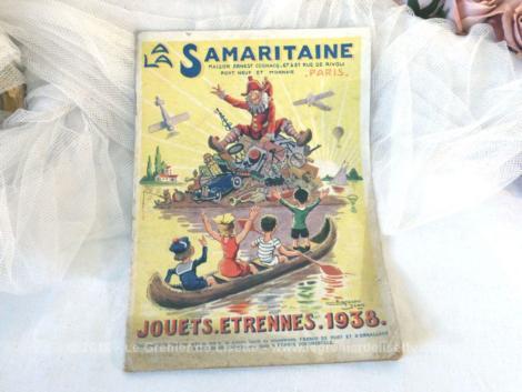 Ancien catalogue La Samaritaine Jouets Etrennes 1938 de 38 pages des fameux magasins parisiens pour découvrir tous les jouets de l'année 1938.